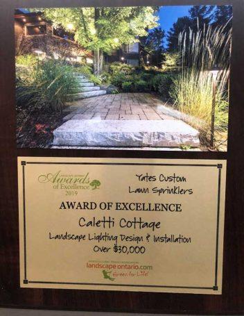 Award of Excellence - Yates Landscape Lighting